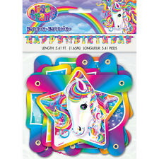 LISA FRANK Majesty HAPPY BIRTHDAY BANNER ~ Party Supplies Decorations Rainbow