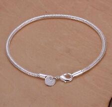 Bracelet Beautiful Women's Jewelry Wholesal 925 Sterling Silver Snake Bone Shape