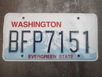 Washington (BFP7151) American License Number Plate Collecting Craft Hobby