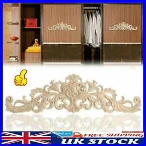 1pc Wooden Carved Corner Onlay Applique Furniture Mouldings Decal Decor UK STOCK
