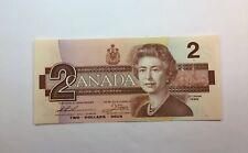 1986 Canada $2 Dollar Bill - Uncirculated Banknote - Paper Money