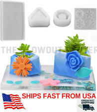 Silicone Mold Flower Pot Set 4 Pcs 10 Molds Epoxy Resin Casting FAST SALE PRICE!