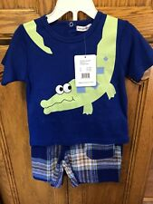 🐊Rumble Tumble 2T Boys 2 Piece Alligator Outfit NWT🐊
