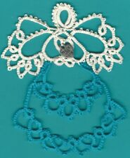Tatting Tatted Angel made w/love dark aqua size 10 thread