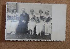 1920's wedding group Photo Postcard Germany or holland . RPPc xc1