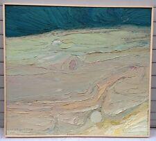 FOUGERAND.LAURENT -huile sur panneau _ Soleil Bleu _ 62 cm x 55 cm