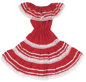 Mexican Dress Escaramuza for Girls Choose Your Color