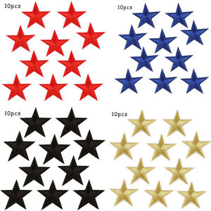 10pcs Star Embroidered Sew Clothes Applique Bag Shoes DIY Patch Iron On Badge