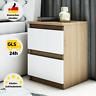 Nachttisch Nachtschrank Holz Kommode Nachtkonsole für Boxspringbett 2 Schubladen
