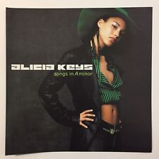 Vintage 2001 Alicia Keys Songs In A Minor Promo Poster Flat Two Sided J Records