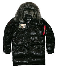 Alpha Industries n3b Down Jacket Parka chaqueta invierno plumifero talla L Black [e0]