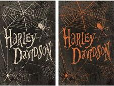 NEW LG EVERGREEN DOUBLE-SIDED FLAG HARLEY-DAVIDSON HALLOWEEN SPIDER WEB 29 X 43