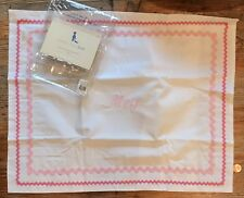 NWT Pottery Barn Kids Girls Small Pillow Sham Embroidered Meg 💕 Pink Monogram