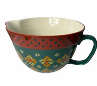 The Pioneer Woman Vintage Geo Pattern Green Batter Bowl/ Mixing Bowl 2.83 Qt