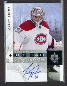 2011-12 Ultimate Collection Ultimate Signatures Carey Price  Autograph     10357