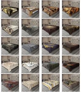Ambesonne Brown Flat Sheet Top Sheet Decorative Bedding 6 Sizes