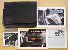 SEAT Ibiza/ST/SC Manual Owners Manual Cartera Audio 2012-2016 Pack 14653