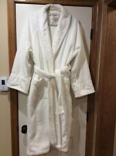 LUXURY FRETTE$300 SHAWL COLLAR TURKISH BATH ROBE IN WHITE Unisex Size L/XL