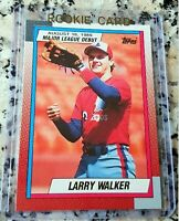 LARRY WALKER 1989 Topps Rookie Card RC HOF Expos Colorado Rockies 383 HRs HOT $$