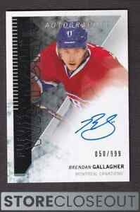 2013-14 Sp Authentic #318 Brendan Gallagher Auto Rookie Future Watch RC /999
