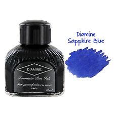Diamine Fountain Pen Bottled Ink, 80ml - Sapphire Blue