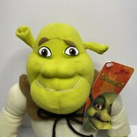 "Shrek 2 THE OGRE PLUSH 14"" STUFFED TOY ~ 2004 New With Tag ~ NANCO"