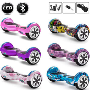 """Hoverboard 6.5"""" Bluetooth Electric Scooters LED Self-Balancing Scooter+Key+Bag"""