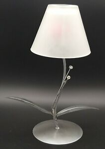 ELEGANT ART DECO STYLE CANDLEHOLDER (or tealight), FLOWER WITH GLASS SHADE, 29cm