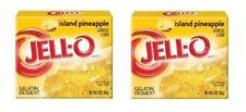 Jell-O Island Pineapple Gelatin Dessert Mix 2 Box Pack