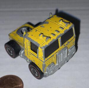 Vintage 1973 Mattel Hot Wheels Redline ROAD KING Yellow Truck Cab Toy Free Shipg