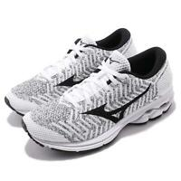 Mizuno Waveknit R2 White Black Women Running Training Shoes Sneakers J1GD1829-10