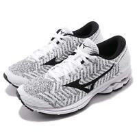 Mizuno Waveknit R2 White Black Women Running Training Shoes Sneakers J1GD1829-10