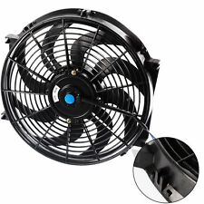 "14"" 12V PULL PUSH RADIATOR ELECTRIC THERMO CURVED BLADE FAN new"