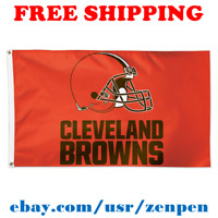 Deluxe Cleveland Browns Team Logo Flag Banner 3x5 ft NFL Football 2019 NEW