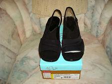Life Stride Flair - Black  Womens Open Toe Slingback Sandals Shoes NIB!!! 11 M