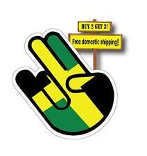 JDM Shocker with Jamaica Flag Wakaba Leaf Decal Sticker FLG39