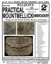 Weldon's 2D #45 c.1888 Beautiful Mountmellick Embroidery Instructions (1st Book)