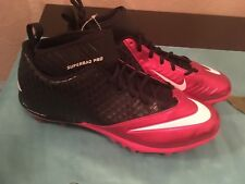 New Nike Size 14 Football Cleats 534994 602 Superbad Red Black Mid Lunar Pro Td