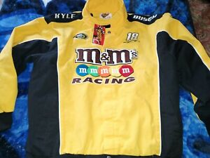 KYLE BUSCH Official Racing M&Ms NASCAR Racing Jacket XL Brand New Winners Circle