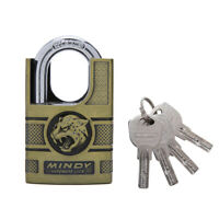 MINDY Lock 40mm High Security Padlock 4 Keys Solid Alloy Anti-cut Outdoor Safety