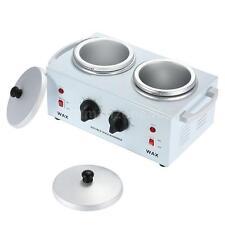 110V 220W Double Pot Hair Removal Wax Warmer Machine Hot Paraffin E5Q2
