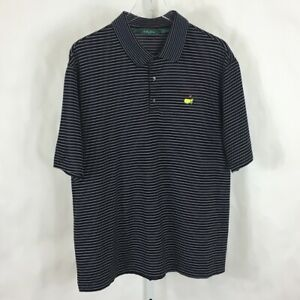 Bobby Jones Masters Mens Golf Polo Shirt Made in Italy Black & Lavender Size L