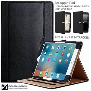 Genuine Leather Smart Stand Case Cover For Apple iPad 10.2 (2020-19) 8th/7th Gen