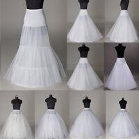 7 Style Wedding Bridal Crinoline Underskirt Petticoat Prom Dress Long Slip Skirt