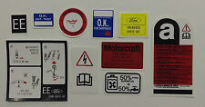 Ford Fiesta MK2 XR2 Early Spec, Engine Bay Decals Stickers