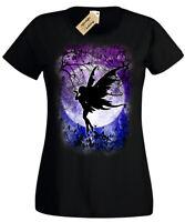 Fairy Moon T-Shirt gothic fantasy woodland night stars cute Womens Ladies