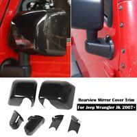 Carbon Fiber rearview mirror base cover trim decor For 2007-17 Jeep Wrangler JK
