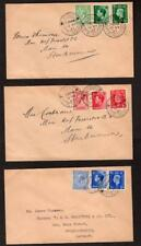 GEORGE VI 1/2d + 1d + 21/2d SET OF 3 FIRST DAY COVERS + RELEVANT CDS CANCELS