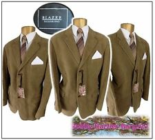 "Blazer Tailoring mens suit Ch44"",W40"" L32"" Golden Brown100% brushed cotton"