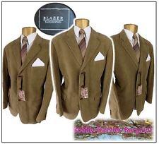 "Blazer Tailoring 2 piece suit Ch44"",W40"" L32"" Golden Brown100% brushed cotton"